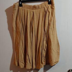 LuLaRoe Madison 2xl yellow pleated skirt EUC